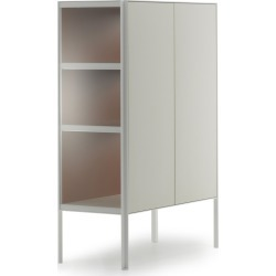 Heron Drawer High Unit, 2 Doors Medium Grey Structure & Transparent Glass Side Panel, Medium Grey found on Bargain Bro UK from Clippings