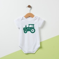 Personalised Tractor Baby Grow found on Bargain Bro from hardtofind.com.au for USD $28.11
