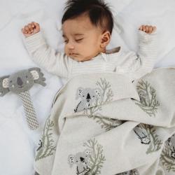 Clancy Koala Baby Blanket