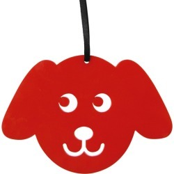 Red puppy Christmas decoration found on Bargain Bro India from hardtofind.com.au for $9.30