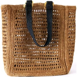 MARAINA LONDON - Beatrice Small Brown Raffia Beach Bag found on MODAPINS from Wolf & Badger US for USD $171.00