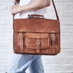 Vintage Style Leather Satchel Bag found on Bargain Bro Philippines from hardtofind.com.au for $127.11