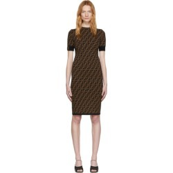 Fendi Black and Brown Forever Fendi Dress found on Bargain Bro India from ssense asia-pacific for $1232.00