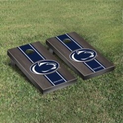 Penn State Nittany Lions Cornhole Game Set Onyx Stained Stripe