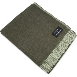 Heating & Plumbing London - Merino Lambswool Throw Grey & Green Reversible found on Bargain Bro UK from Wolf and Badger