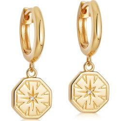 Astley Clarke - Celestial Dial Drop Hoop Earrings found on MODAPINS from Wolf & Badger US for USD $174.00