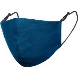 Face My Mask - Teal Blue Linen Cotton Face Mask With Filter Pocket