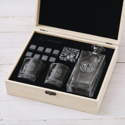Personalised decanter & glasses set with whiskey stones found on Bargain Bro Philippines from hardtofind.com.au for $140.66