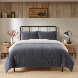 Reversible Micromink to Sherpa Comforter Set