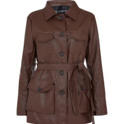 Blackburd - Brown Vegan Leather Coat