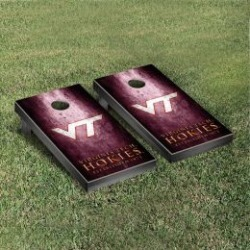 Virginia Tech Hokies Cornhole Game Set Metallic-Look