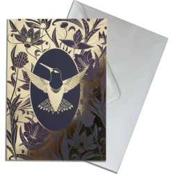 The Curious Department - Elemental Hummingbird Gold Greeting Cards Pack Of 10 found on Bargain Bro India from Wolf & Badger US for $48.00