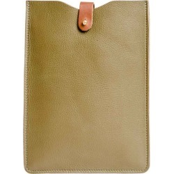 N'Damus London - Leather Ipad Mini Sleeve in Olive Green found on Bargain Bro Philippines from Wolf & Badger US for $98.00