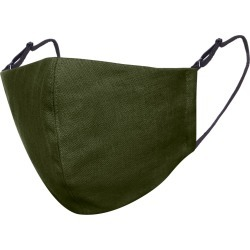 Face My Mask - Moss Green Linen Cotton Face Mask With Filter Pocket
