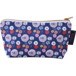 The Humble Cut - Midnight Poppy Cotton Cosmetic Bag - Blue found on Bargain Bro from Wolf & Badger US for USD $25.08