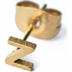 Florence London - Little Letter Z Earring 18ct Plated