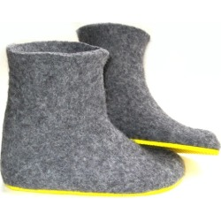 Women's Handmade Eco Wool Boots In Sunny found on Bargain Bro Philippines from hardtofind.com.au for $259.07