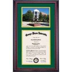 George Mason School Color Premier the George Mason Statue Photograph Diploma Frame