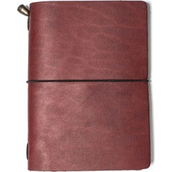 Mr Fox - Handmade Passport Size Vino Leather Traveler's Notebook found on Bargain Bro India from Wolf & Badger US for $30.00