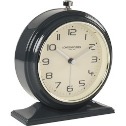 Oxford Charcoal Alarm Clock by London Clock Company