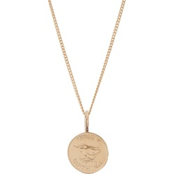 Katie Mullally - English Farthing Coin Rose Gold Plated Necklace found on MODAPINS from Wolf & Badger US for USD $213.00