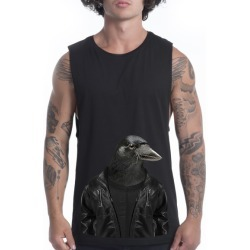 Crow men's muscle tank