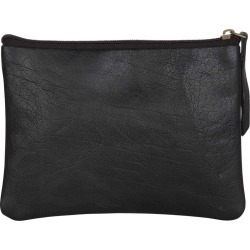 N'Damus London - Black leather Flat Makeup Pouch found on Bargain Bro UK from Wolf and Badger