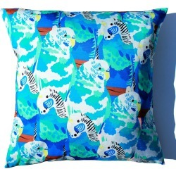 Chloe Croft London Limited - Baffling Budgies Cushion found on Bargain Bro UK from Wolf and Badger
