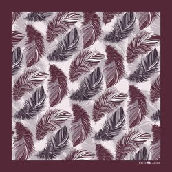 Emily Carter - The Feather Pocket Square Maroon found on Bargain Bro India from Wolf & Badger US for $74.00