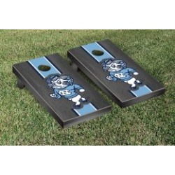 North Carolina Tar Heels Cornhole Game Set Onyx Stained Stripe Ram