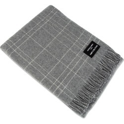 Heating & Plumbing London - Wonderfully Soft Merino Lambswool Throw Grey & White Checks found on Bargain Bro UK from Wolf and Badger
