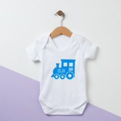 Personalised Train Baby Suit found on Bargain Bro from hardtofind.com.au for USD $28.11