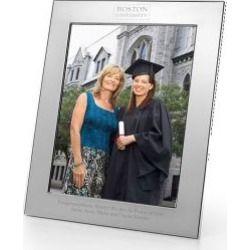 Boston University Polished Pewter 8x10 Picture Frame