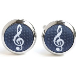 Navy Treble Clef Cufflinks found on Bargain Bro Philippines from hardtofind.com.au for $37.55