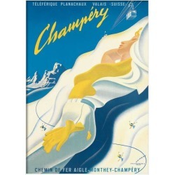 Champery Switzerland Print