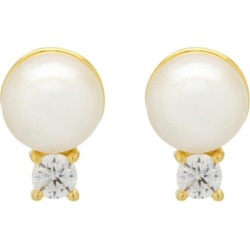Northskull - Joanna Vegan Pearl Stud Earrings In Gold found on MODAPINS from Wolf & Badger US for USD $118.00