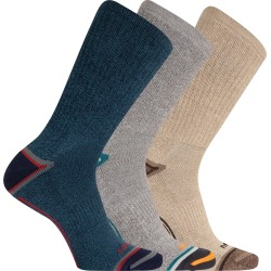 Merrell Men's Cushioned Elite Hiker Crew Socks, 3-Pack found on Bargain Bro India from Eastern Mountain Sports for $18.00