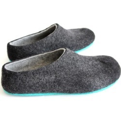 Men's Felt Slippers in Charcoal Black found on Bargain Bro India from hardtofind.com.au for $225.03