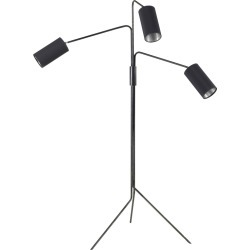 Array Cotton Floor Lamp Bronze base, satin nickel details and black cotton shade/silver lining