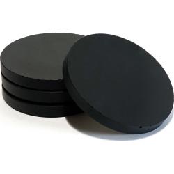 CONCRETE & WAX - Set Of 4 Handpoured Concrete Coasters In Black