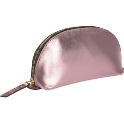 VIDA VIDA - Lunar Metallic Pink Leather Make-Up Bag found on Bargain Bro from Wolf & Badger US for USD $49.40
