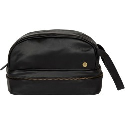 MAHI Leather - Leather Raleigh Toiletry Bag Dopp Kit In Ebony Black found on MODAPINS from Wolf & Badger US for USD $102.00