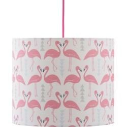 Rosa & Clara Designs - Flamingo Flourish Lampshade White Medium found on Bargain Bro UK from Wolf and Badger