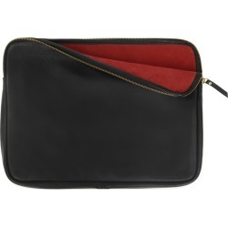 VIDA VIDA - Full Grain Black Leather Macpack With Red Suede Lining found on Bargain Bro Philippines from Wolf & Badger US for $135.00
