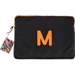 Laines London - Personalised Black / Orange Leather 13