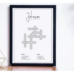 Personalised Family Name Crossword Print