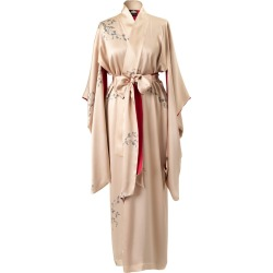 Castlebird Rose - Maxi Silk Kimono Sunset Gold found on MODAPINS from Wolf and Badger for USD $688.86