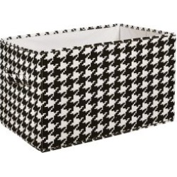 Houndstooth Collapsible Storage Box 3 Piece Set