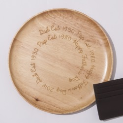 Personalised Wooden Engraved Trinket Dish found on Bargain Bro India from hardtofind.com.au for $42.56
