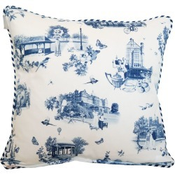 Emily Humphrey - Blue Harrogate Toile Print Cushion found on Bargain Bro UK from Wolf and Badger